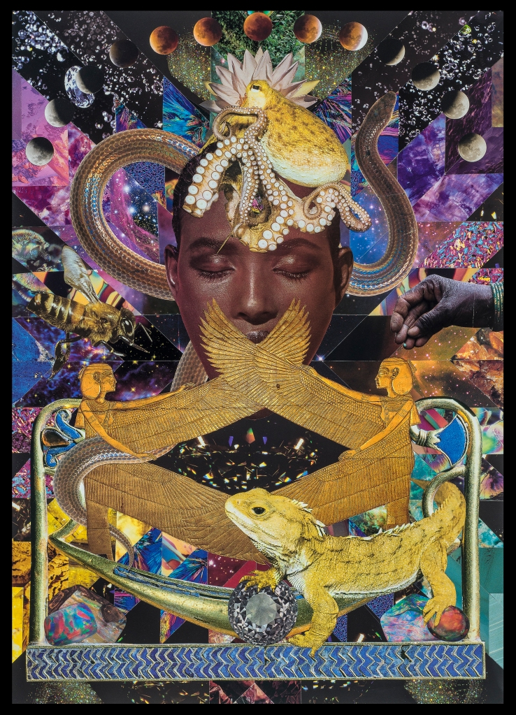 Teresa Goodin | The Black Goddess | Handcrafted collage | 420mm x 594mm | 2020