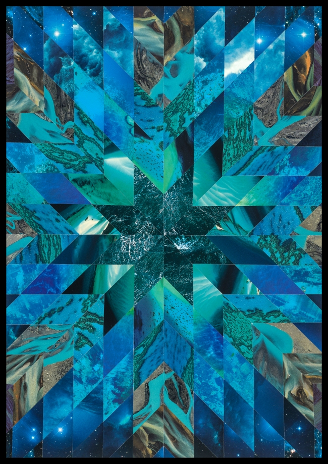 Teresa Goodin | Water | Handcrafted collage | 420mm x 594mm | 2020